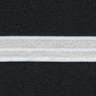 Fold over elastic (FOE) white, 19mm, shiny