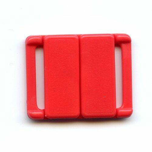 Bikiniverschluss rot 12 mm